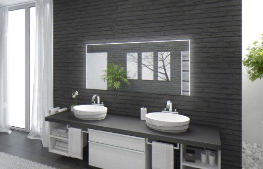 Badspiegel mit Beleuchtung Santa Rosa M220L3 Design Spiegel für
