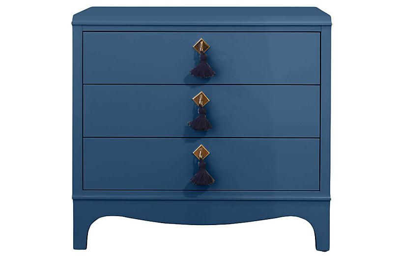 Best Easton Nightstand New York Blue Oomph Three Drawer 400 x 300