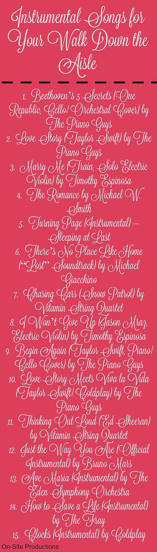 OnSite Wedding Receptions 15 Beautiful Instrumental