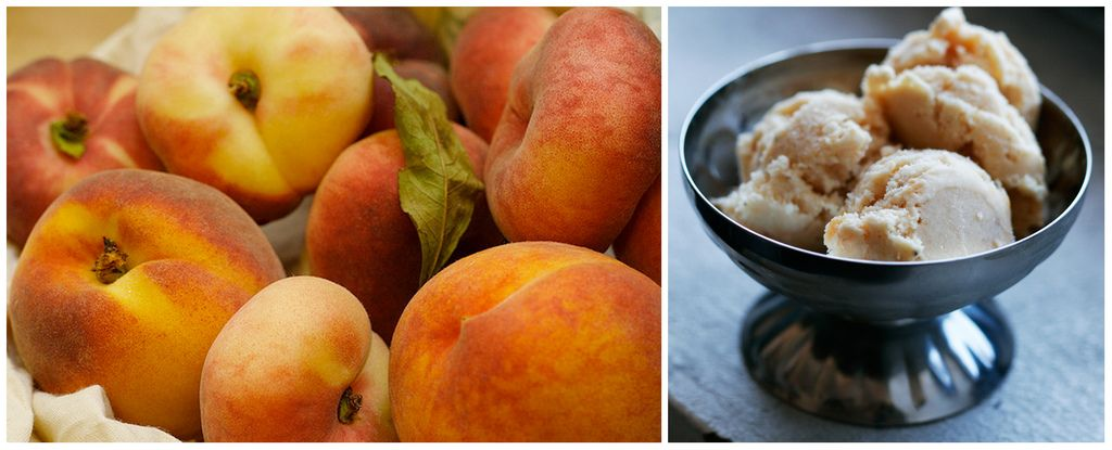 Peppered Peach - sweet peach ice cream with a hint of white pepper