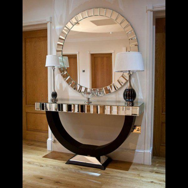 flurspiegel idee rund gro konsolentisch verspiegelt babys pinterest. Black Bedroom Furniture Sets. Home Design Ideas