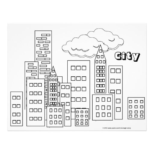 city buildings coloring pages
