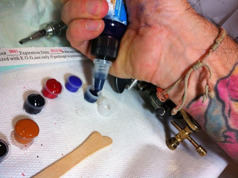 Preparando i colori/ colors board
