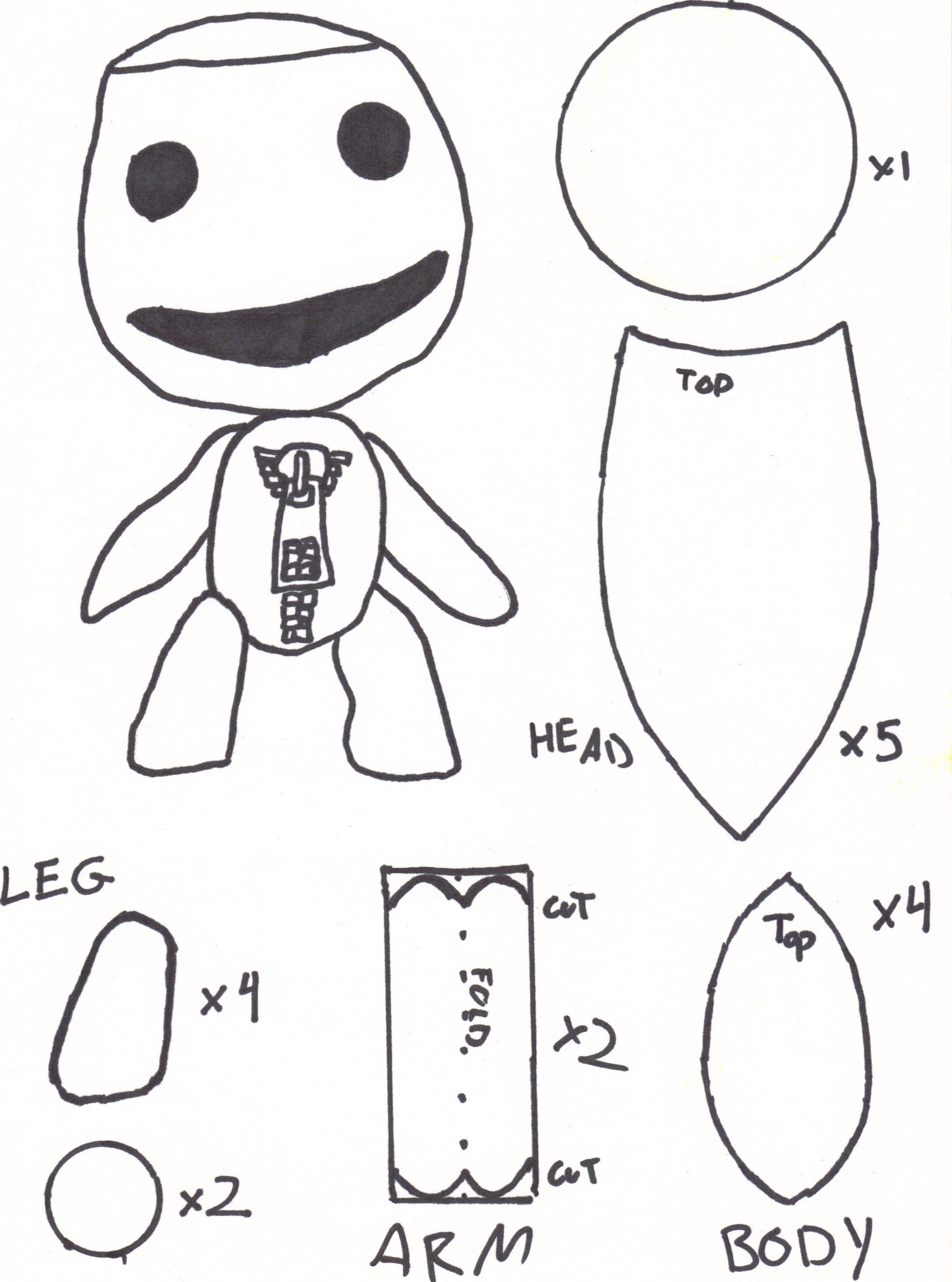Sackboy Sewing Pattern by DuckTapeGuru.deviantart.com on