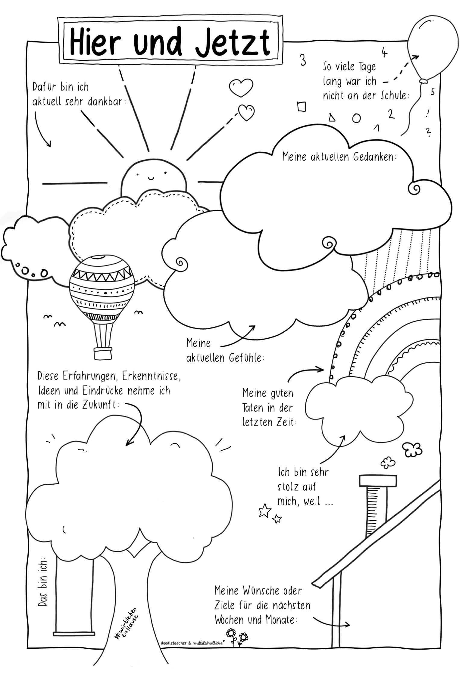 Sketchnotes Fur Die Coronazeit Unterrichtsmaterial Grundschule Wochenplan Zum Ausdrucken Unterricht Schule