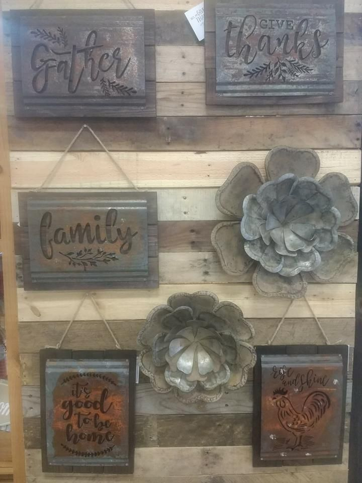 New! These metal signs are all the rage this year in Home Decor