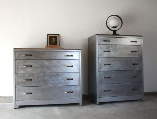 These Super Cool Vintage Steel Dressers Have Been Stripped Buffed And Sealed Are Ready To Come Home With You Today