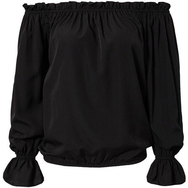 Nly Trend Off Shoulder Blouse ($32) via Polyvore