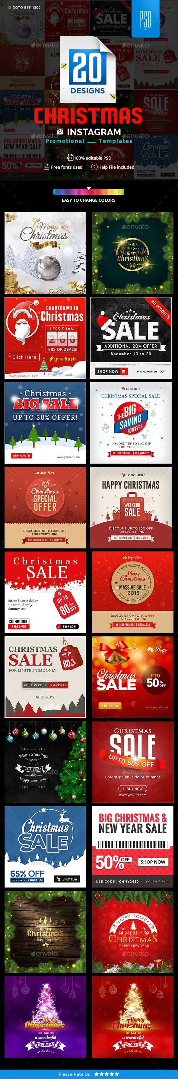 Christmas Instagram Ads Banner Design Templates 20 Designs Miscellaneous Social Media Design Template Psd