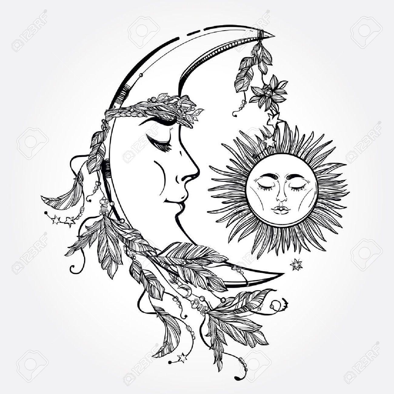 Risultati Immagini Per Disegni Sole E Luna Immagini Disegni Luna