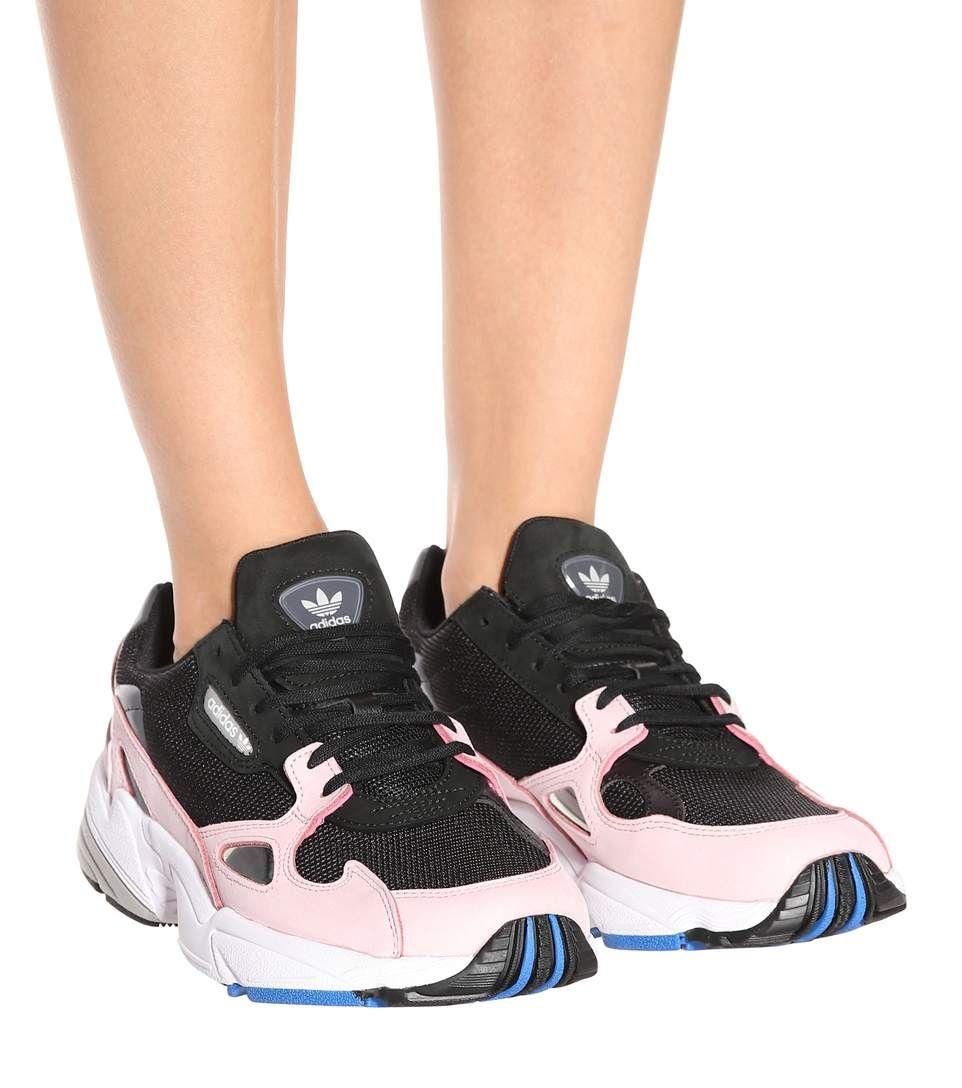 Baskets En Cuir, Daim Et Résille Falcon W Adidas Originals