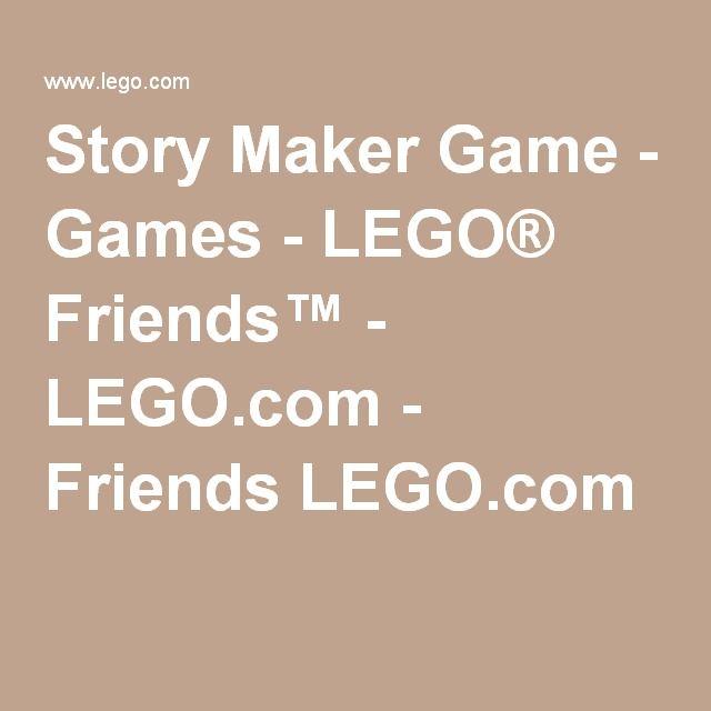 Story Maker Game Games Lego Friends Legocom Friends Lego