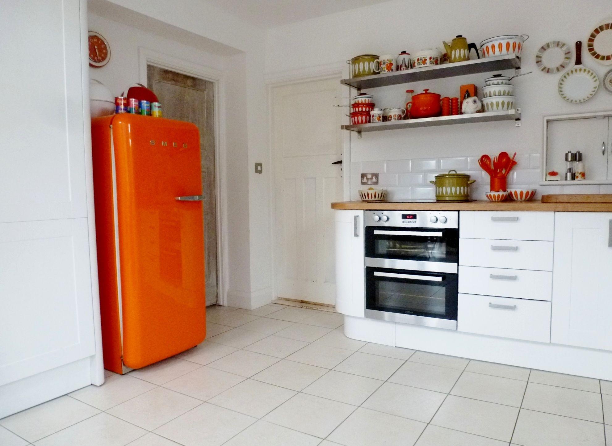 1960s orange smeg kitchen inspiration