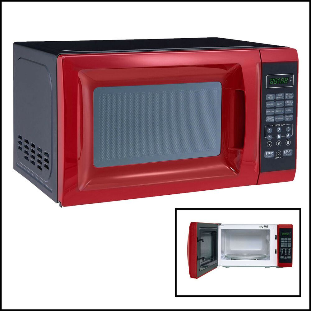Ebay Sponsored Countertop Microwave Oven Mainstays 700w Red 10