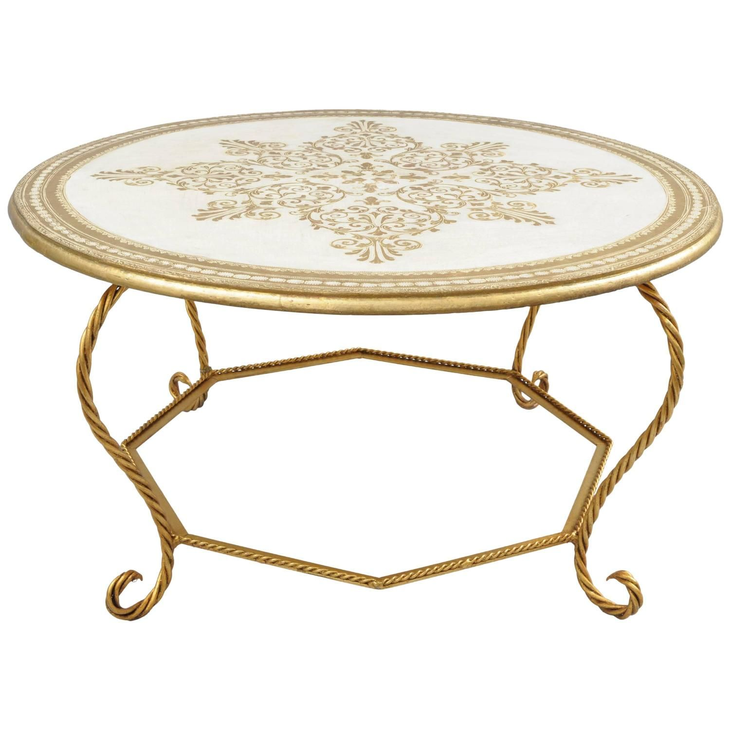 Italian Florentine Hollywood Regency Gold Wood And Iron Rope Round Coffee Table Coffee Table Round Coffee Table Gold Wood [ 1500 x 1500 Pixel ]