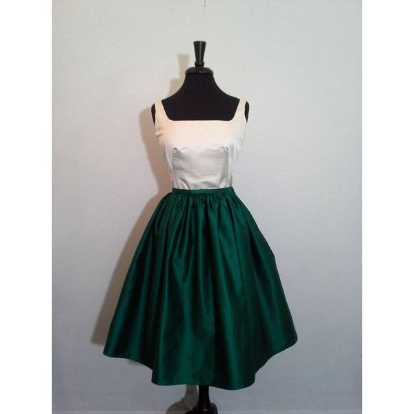Hunter Green Short Ball Gown Skirt Last One (530 ZAR) ❤ liked on Polyvore featuring dark olive, skirts and women's clothing