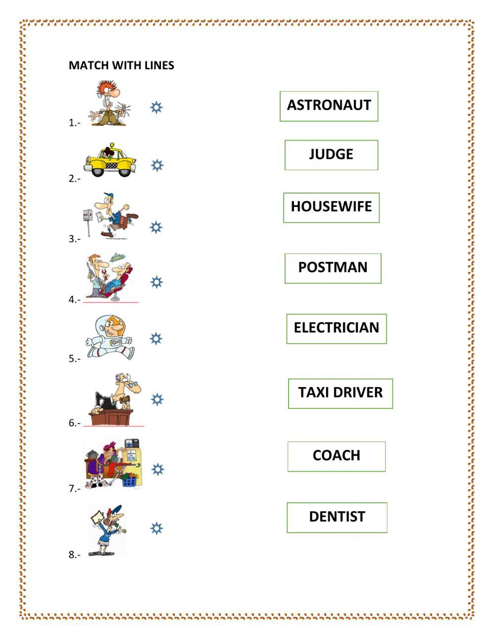 Activity For The Second Theoretical Basis About Professions Join The Name Of The Job Wi Worksheets Learn English Vocabulary English As A Second Language Esl [ 1291 x 1000 Pixel ]