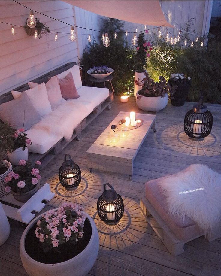 Romantische Terrasse #balkondeko