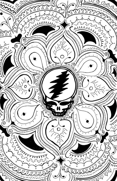 Grateful Dead Coloring Pages : grateful, coloring, pages, Sugar, Magnolia, Grateful, Bears,, Coloring, Books,, Pages