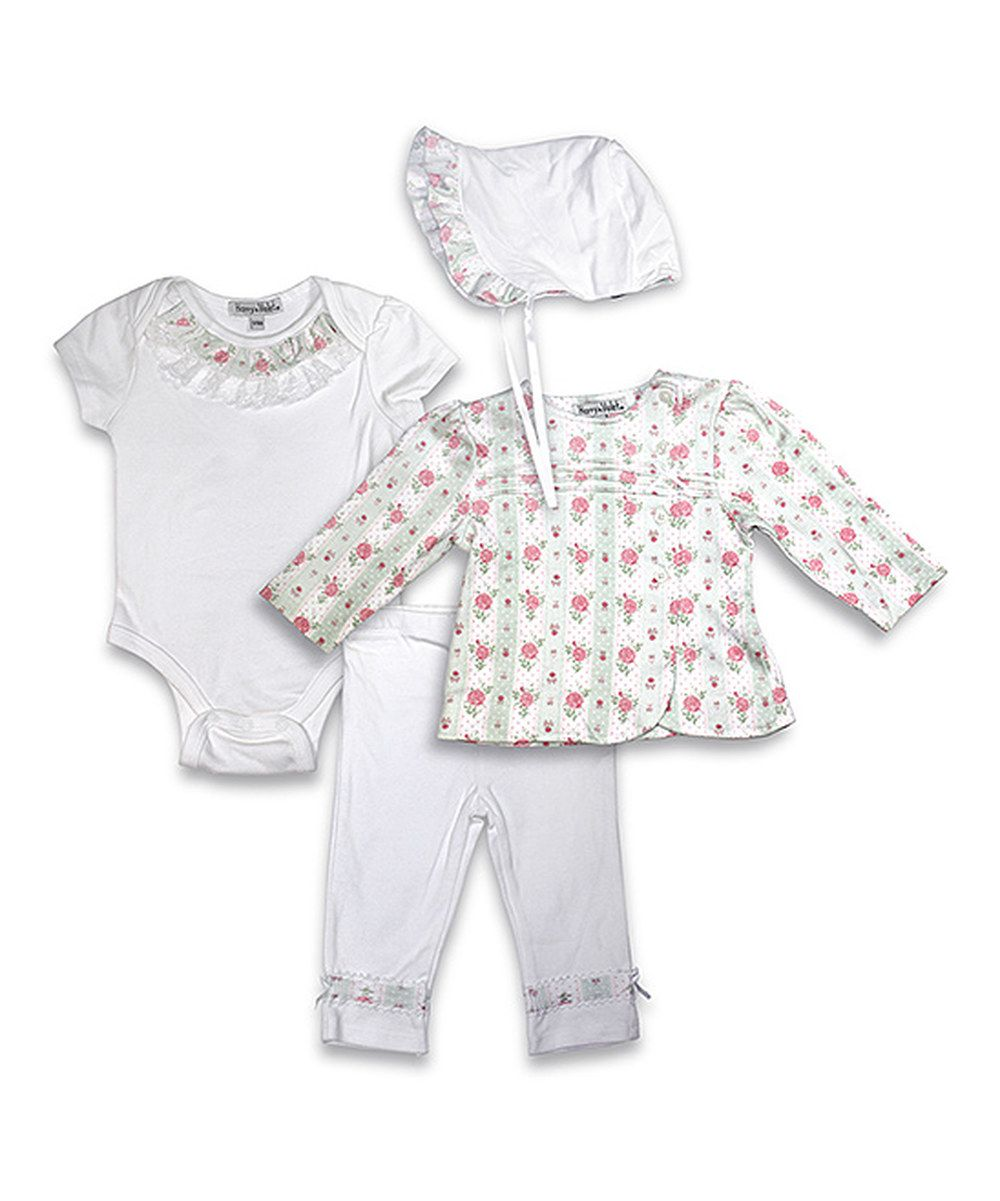 Look at this Harry & Violet Ivory Roses Bodysuit Set - Infant on #zulily today!