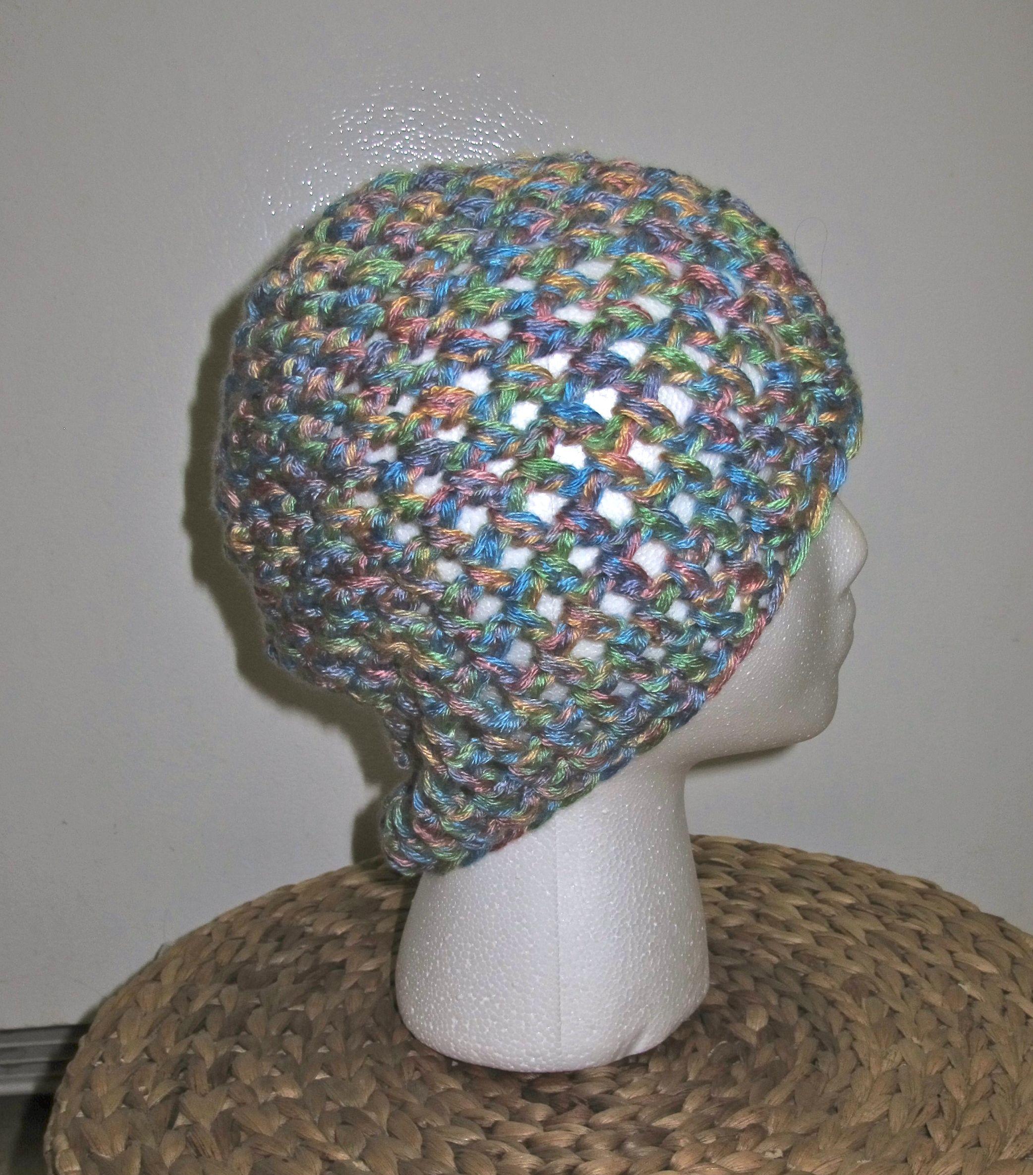 Crochet Beanie: multi-colored
