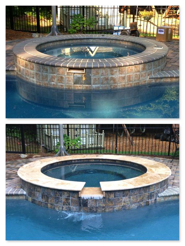 Renovation Ideas For Pool 2019 Spa Renovationnew waterline tile & outside facing, Pebble Tec