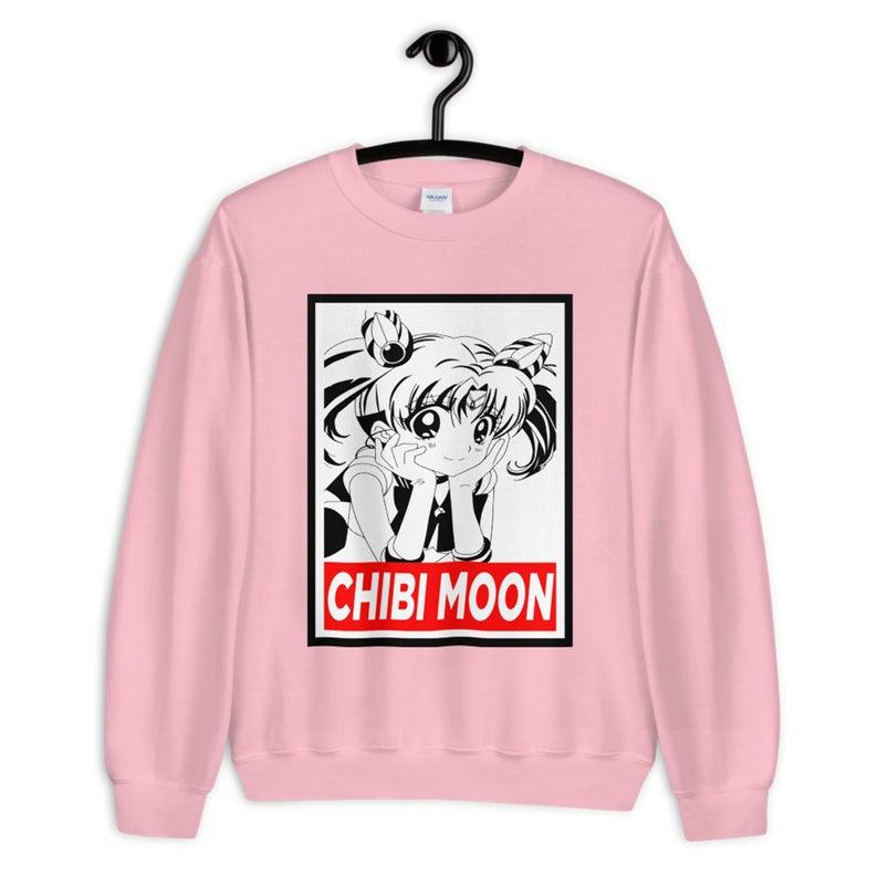 Chibi Moon Anime Sweatshirt Anime Hoodie Sailor Moon Shirt Etsy