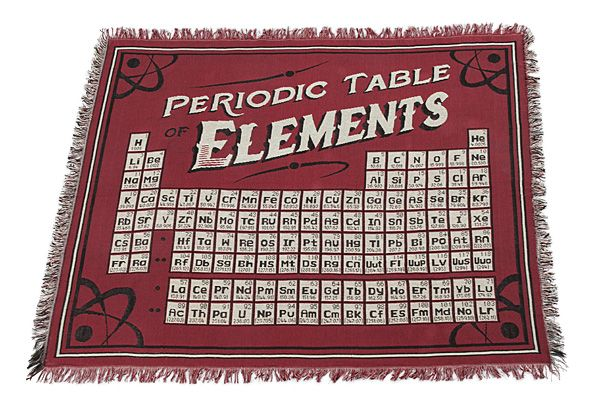 exclusive periodic table of elements blanket - Periodic Table Of Elements Gifts