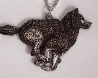 Ravenwolf.....Hand Carved in Fine Pewter Black by McCloud9Jewelry