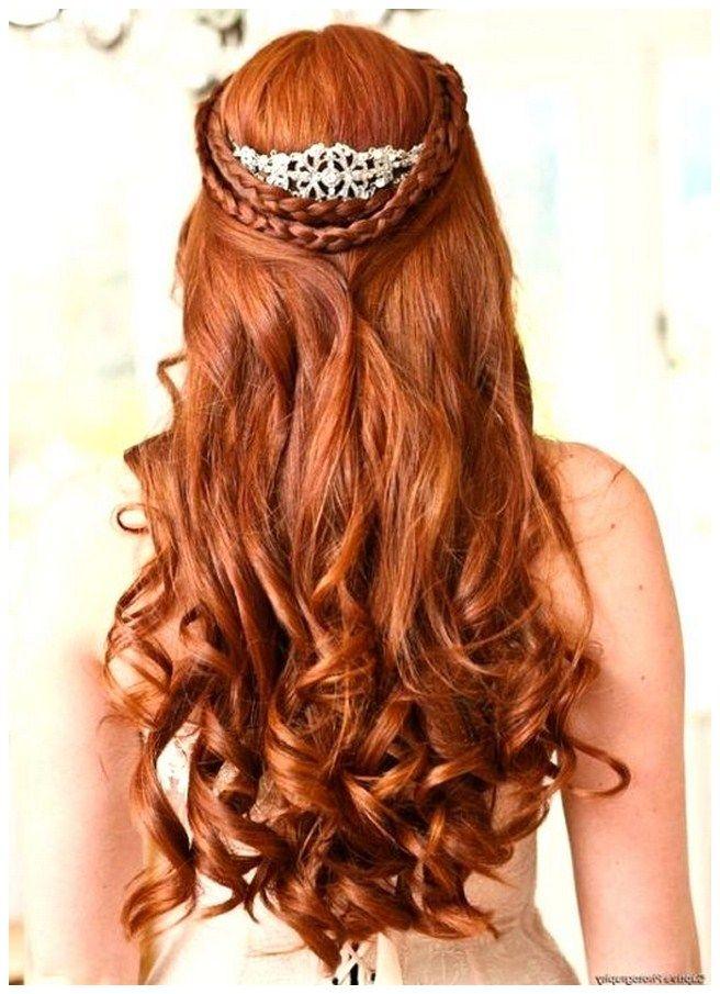 Medieval Wedding Hairstyles For Long Hair Wedding Hairstyles For Long Curly Hair Half Up Wedding Hairst Hair Styles Renaissance Hairstyles Long Hair Styles