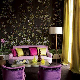 Theme Design: Purple and Gold color combination!