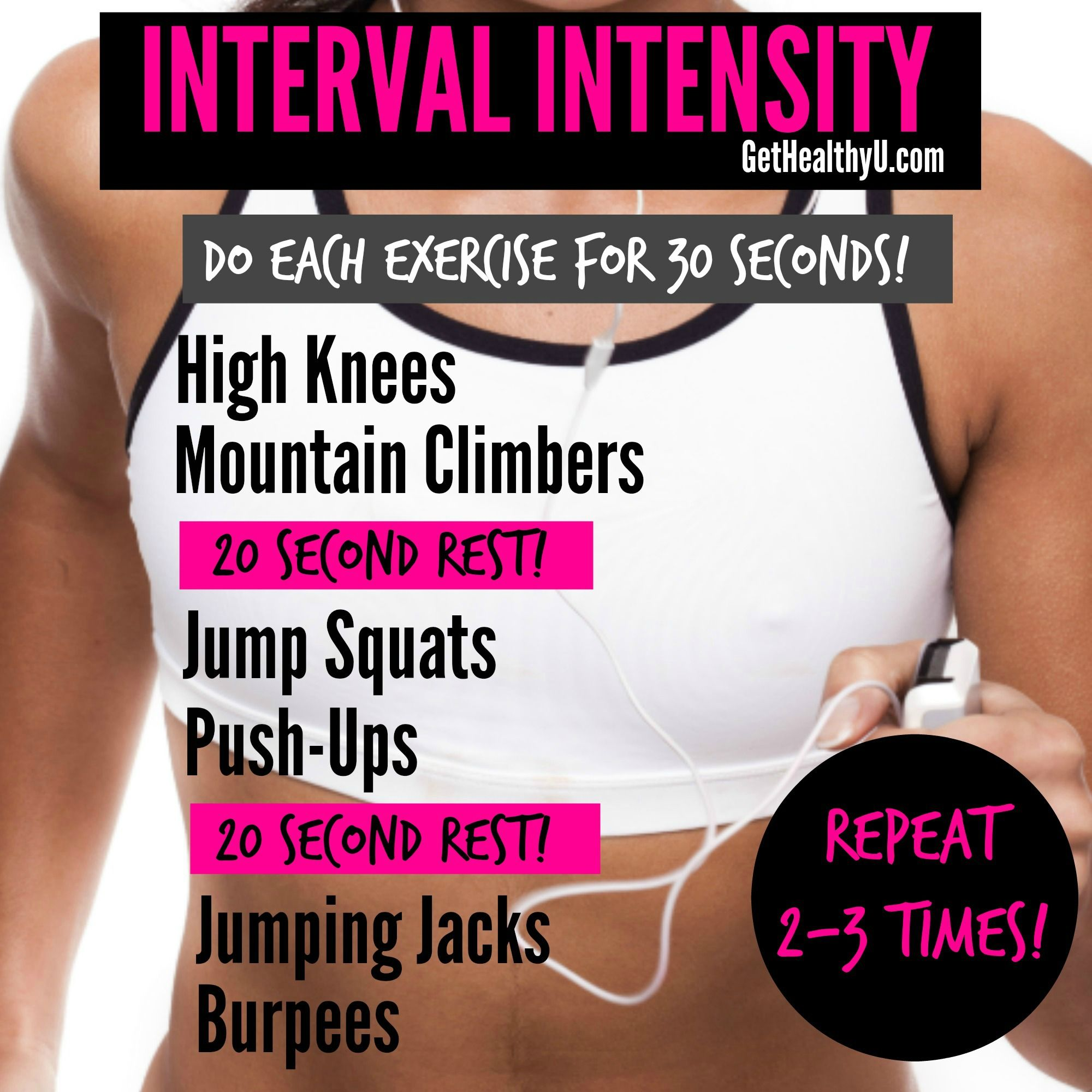 Are you obsessed with interval training?? I AM!! Try this interval workout and you'll be hooked too!