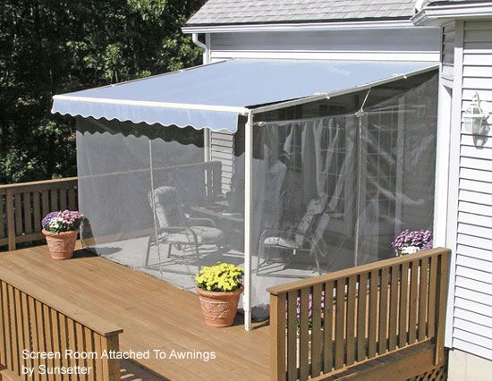 Screen Porch Kits Install On Awnings To Make A Porch Enclosure Screen Porch Kits Porch Enclosures Porch Kits