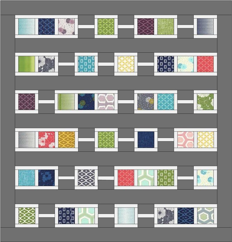 Quilt Pattern Pdf Instant Download Charm Pack Modern Patchwork
