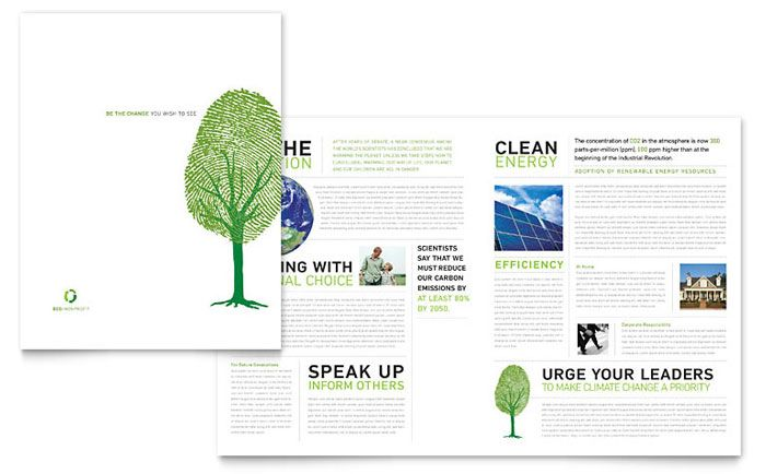 Non-Profit Brochure Template Aesthetically pleasing brochures - profit template