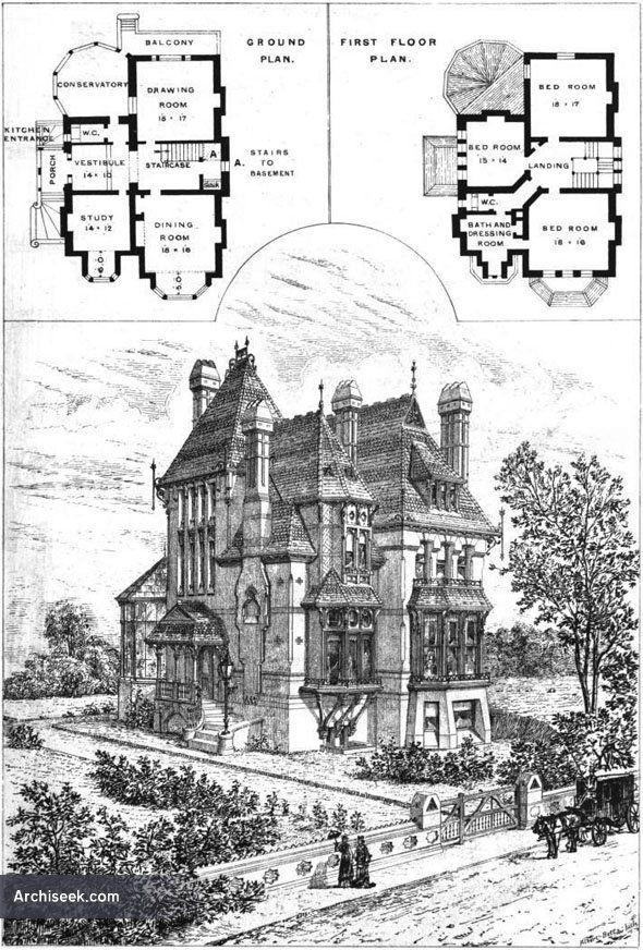 1875 House Upper Norwood London Architecture Of London Archiseek Com Victorian House Plans Vintage House Plans Gothic House