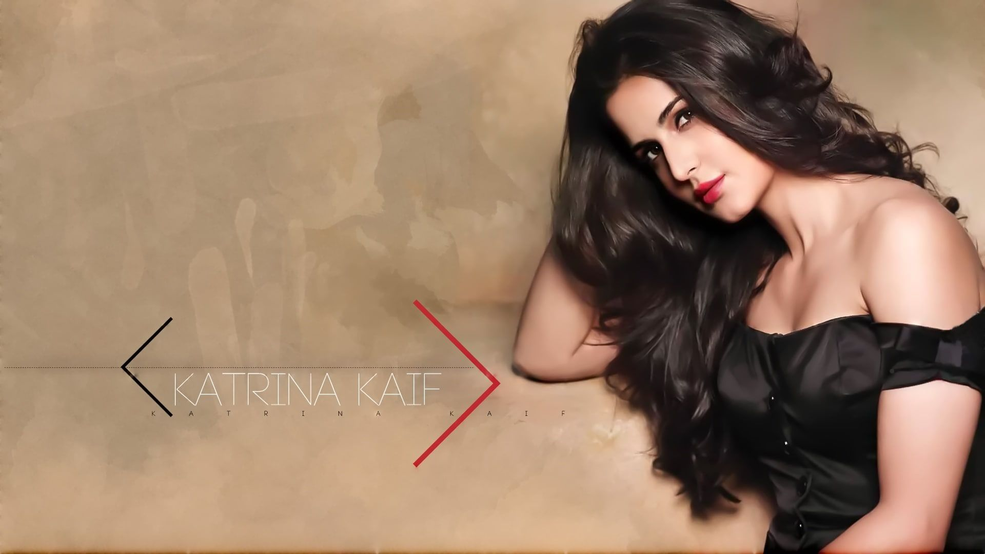 Katrina Kaif Bollywood Actresses Red Lipstick Black Dress Women 1080p Wallpaper Hdwallpaper Deskto Katrina Kaif Katrina Kaif Photo Katrina Kaif Wallpapers