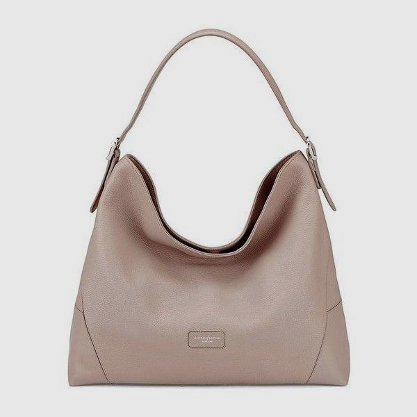 0893c9dddf4c Aspinal of London Aspinal Hobo Bag In Soft Taupe Pebble ( 615) ❤ liked on
