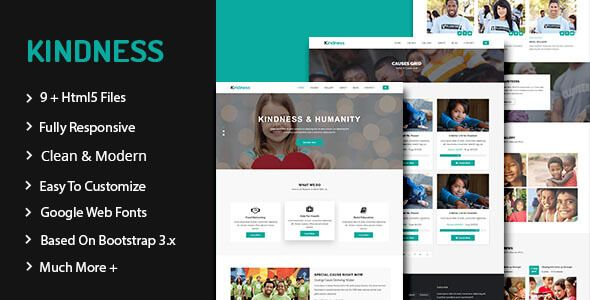 Overview Of Kindness Kindness is a HTML template is created for non ...
