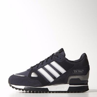 info for 0260a ad6c0 Adidas ZX 750 Mens Running Training Shoes Navy Size 7 - 11 NEW