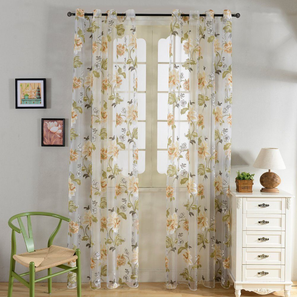 Image Result For Yellow Flower Curtains Room Design Window
