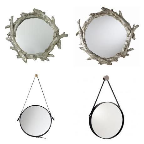 Adding mirrors to your home is a well known interior design trick for reflecting light into a dark area, creating the illusion of space in a small room, and drawing your eye to a focal point within a room. Serving as both art and a mirror, decorative mirrors can also add quite a bit of style and personality your home.  This Look for Less features wall mirrors that will make you do a double take. Can you guess which are the saves and which are the splurges?
