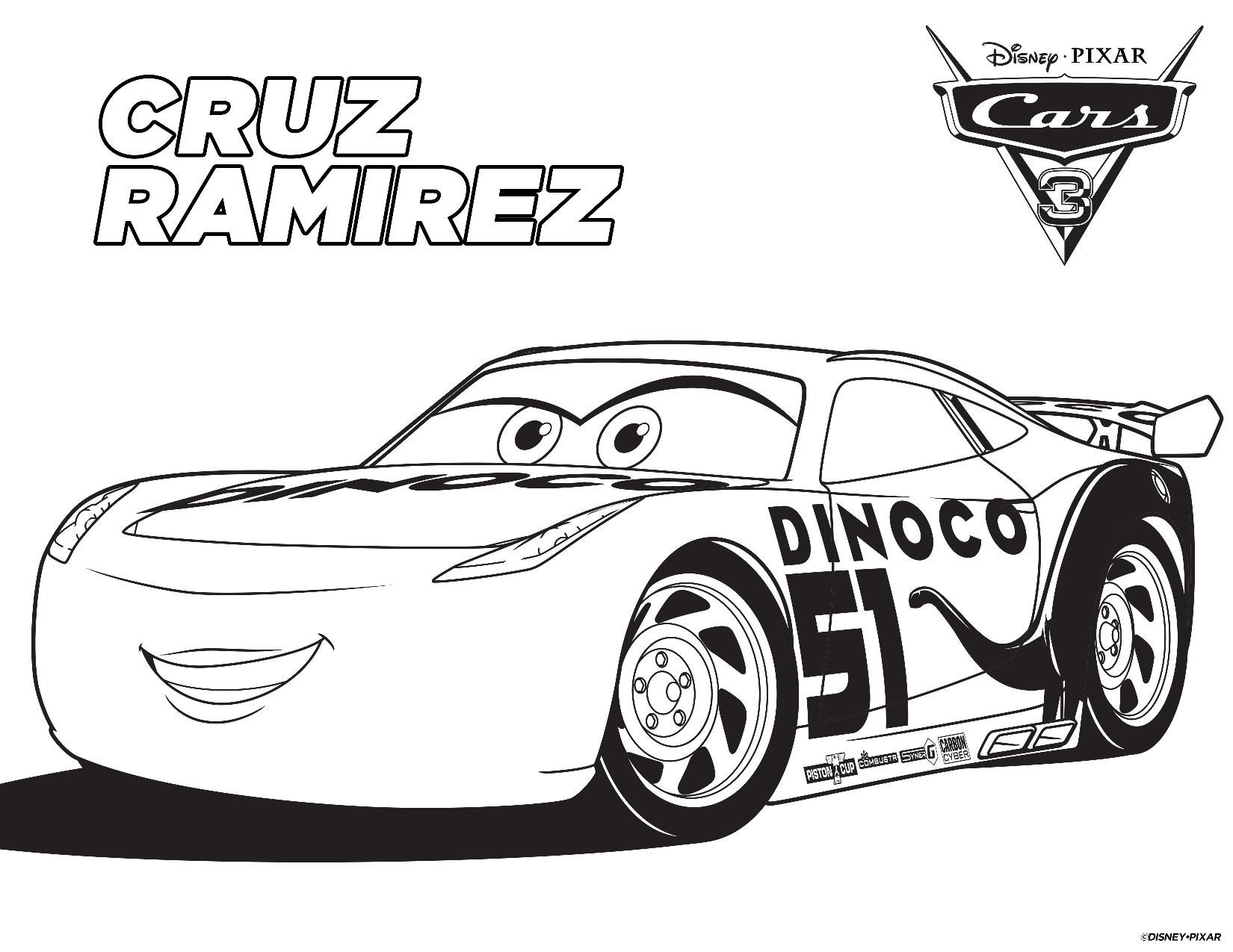 FREE Printable CARS 3 Coloring Pages And Games
