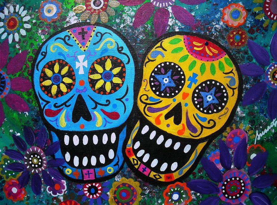 Couple Day Of The Dead By Pristine Cartera Turkus