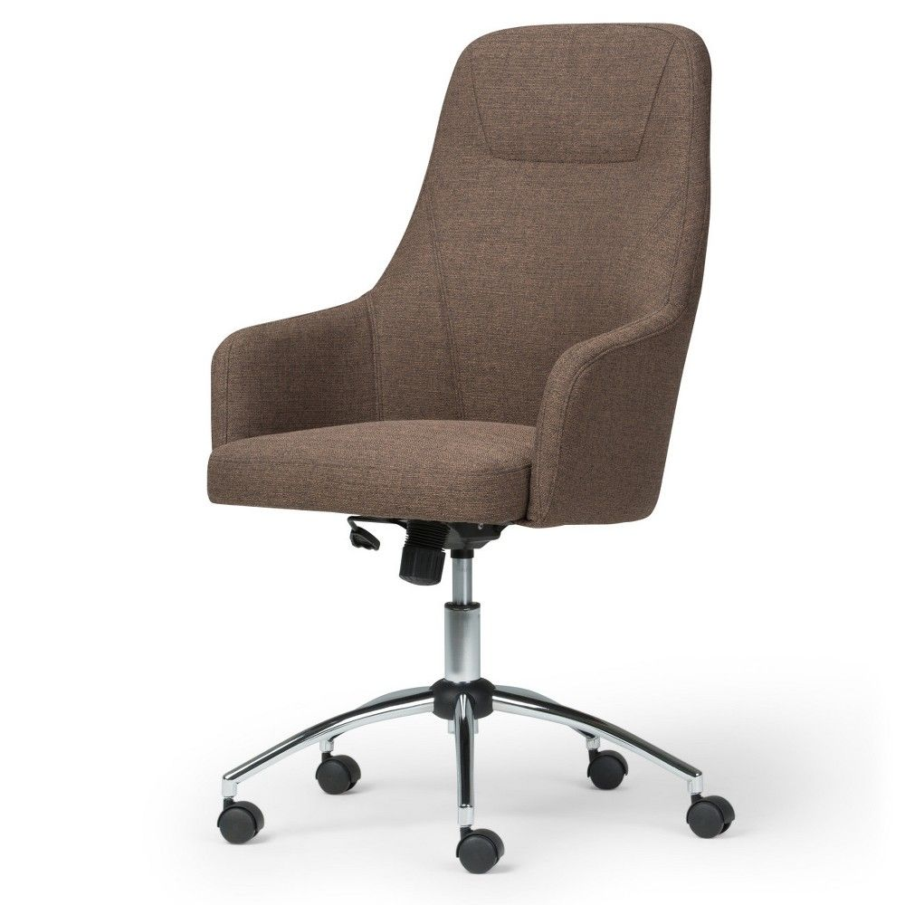 Jules Swivel Office Chair Chocolate Brown