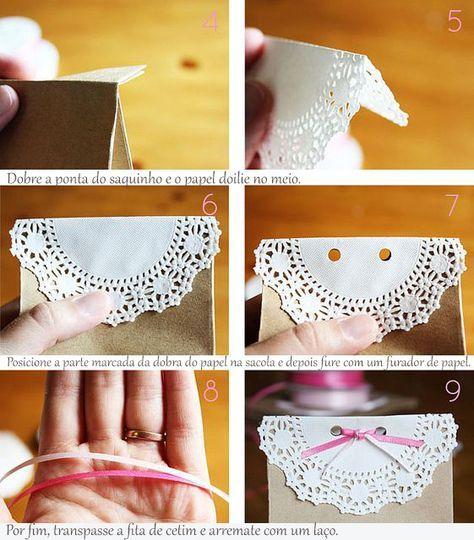 DIY   Sacolinhas Craft Para Lembrancinhas