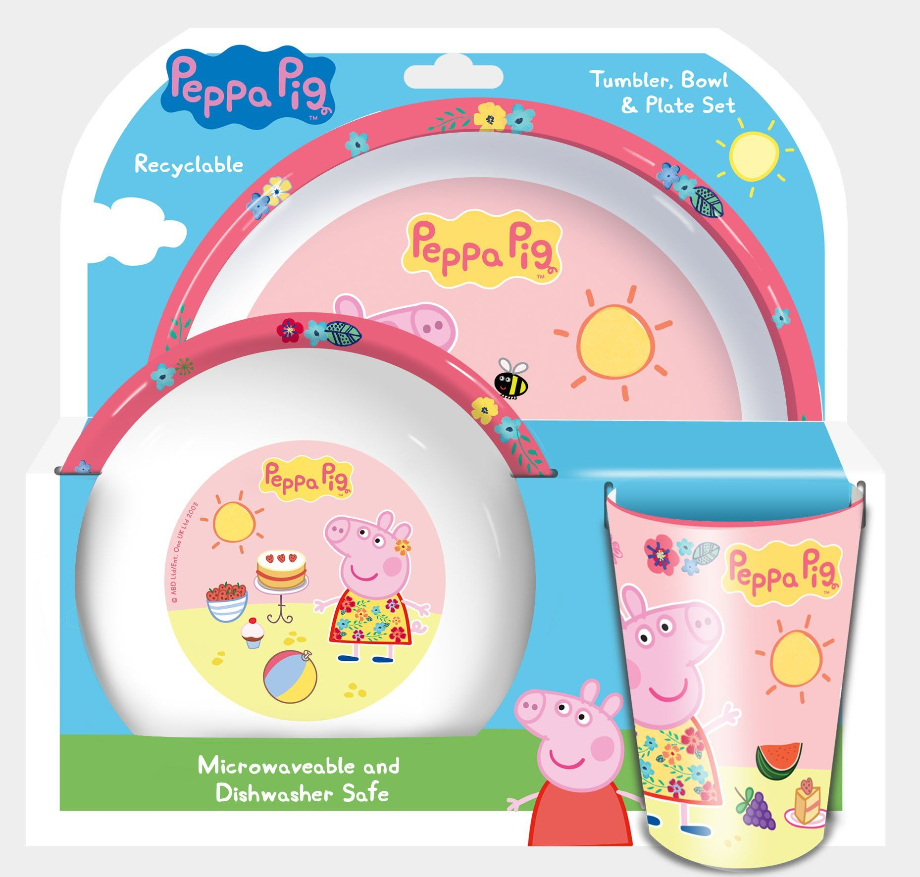 Peppa Pig Tropical Tumbler Bowl And Plate Set Of 3  sc 1 st  Pinterest & Peppa Pig Tropical Tumbler Bowl And Plate Set Of 3 | Toy ...