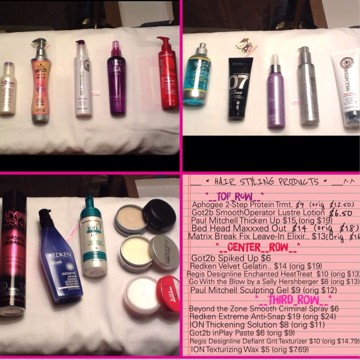 Selling these fantastic hair products!! All ae NEW/UNUSED