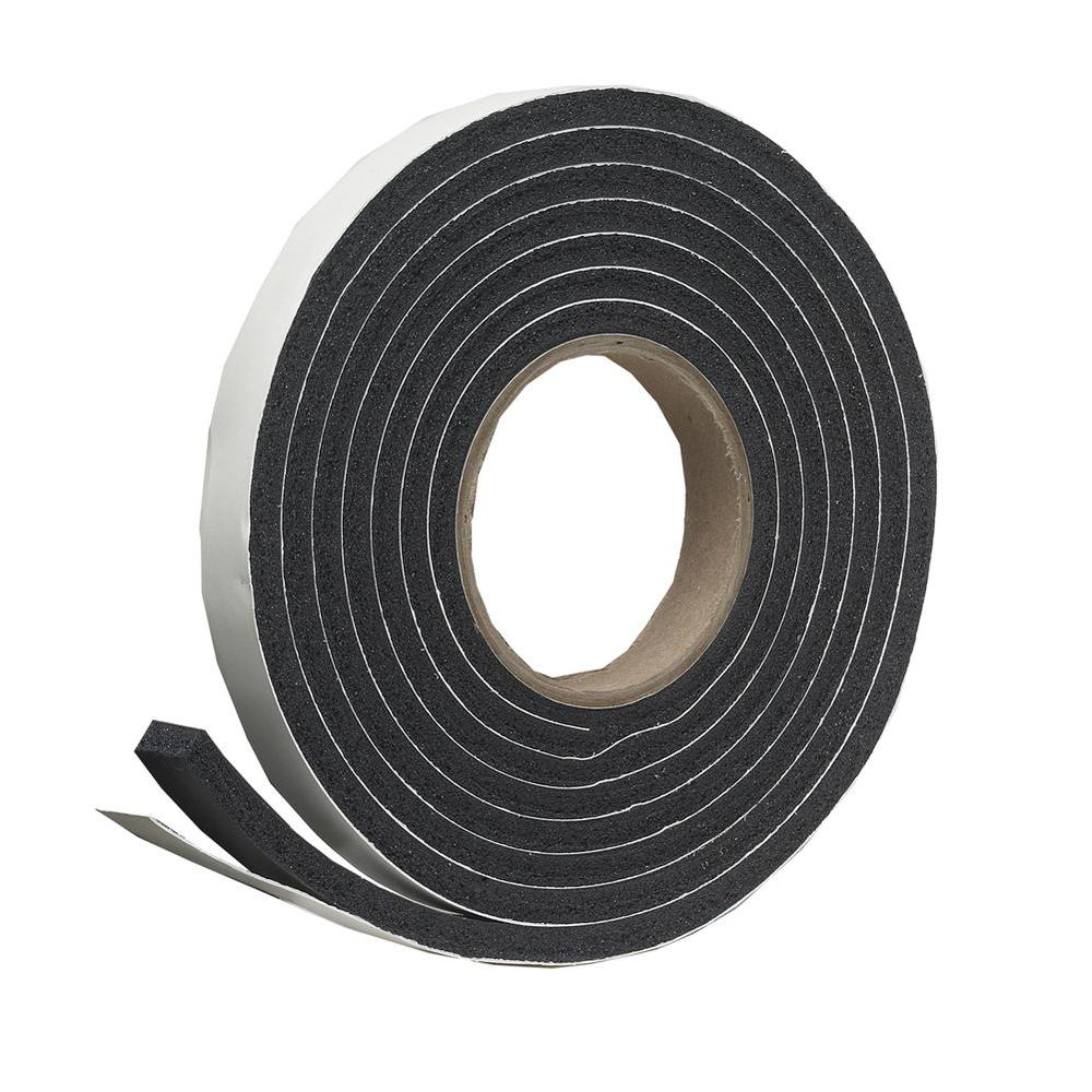Frost King E O 3 4 In X 7 16 In X 10 Ft Black High Density Rubber Foam Weatherstrip Tape R734h The Home Depot Weather Stripping Window Insulation Kit Window Insulation