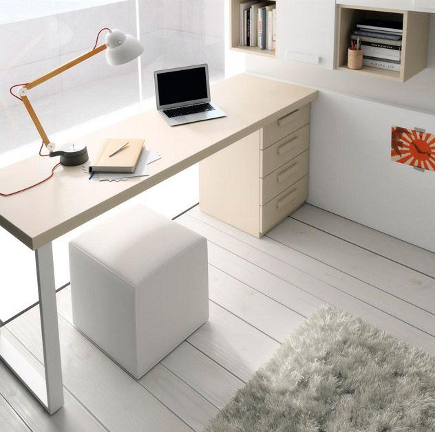 Escritorios en dormitorios juveniles con muebles de muebles jjp combinacion de colores - Muebles modernos valencia ...